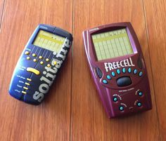 SOLITAIRE & FREECELL Radica Electronic Handheld BLUE LCD CARD GAME LOT TESTED