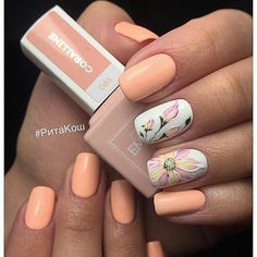 Маникюр | Ногти Manicure Nail Designs, Classy Nail Designs, Nail Manicure, Classy Nails, Fancy Nails, Flower Nail Designs, Nail Art Designs, Nail Trends 2018, Feet Nail Design