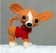 this has many dog patternsDIY Amigurumi Chihuahua - FREE Crochet Pattern / Tutorial Chat Crochet, Crochet Mignon, Crochet Amigurumi, Amigurumi Doll, Amigurumi Patterns, Crochet Dolls, Crochet Baby, Crochet Patterns, Free Crochet