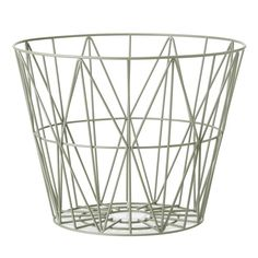 Contemporary wire basket designed by Ferm Living, Denmark. This contemporary wire basket is made of iron wire with powder coating and can be used as table by adding a table top or as storage.