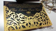 Novo modelo para baile máscaras nas cores dourado com preto!! cortes a laser cod. 306 a bolsa uma lembrança com a máscara dentro.. lindo m...