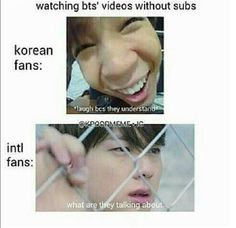 me in basically every v live. i just stare at their faces, or the background and like pick up a few words I know and laugh whenever they do something goofy or if they laugh  life is hard as an international fan || bts || kpop