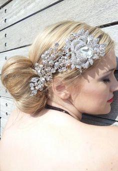 ROSE BUD VINE SILVER SWAROVSKI HEAD PIECE Head Accessories, Rose Buds, Headpiece, Vines, Swarovski, My Style, Silver, Princess, Women