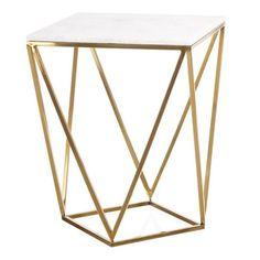 mesa auxiliar mármol geométrica | Tiendas On