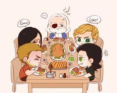 Odin's family dinner time! https://twitter.com/Nominno_rice/status/943055653756534785?s=17