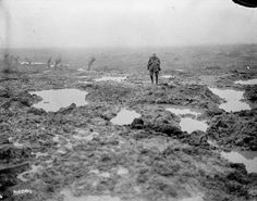 1917: The mud and barbed wire of Passchendaele - Found via The Passion of Former Days. Passchendaele, as a battlefield, was notorious for its muddy conditions. It was, in fact, possible for a man to drown in the stuff.