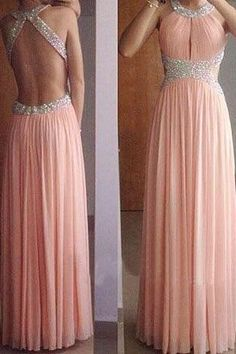 Bg428 Sexy Prom Dress,Chiffon Prom Dress,Halter Prom Dresses,Backless