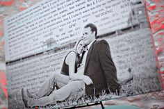 Would love to use the letters Nathan and I wrote to each other on our wedding day on one our wedding pictures.