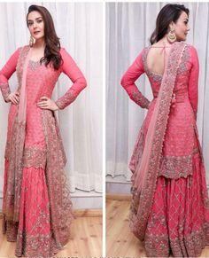 Preity Zinta in Dolly J outfit. Styled by Leepakshi Ellawadi! Sharara Designs, Indian Attire, Indian Wear, Pakistani Outfits, Indian Outfits, Indian Designer Outfits, Designer Dresses, Indie Mode, Embroidery Suits Punjabi