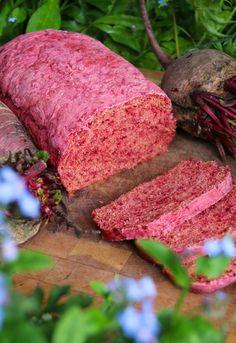 Pan de Betarraga | Cherrytomate Meatloaf, Bakery, Vegan, Food, Breads, Fitness, Gastronomia, Cake Recipes, Desserts