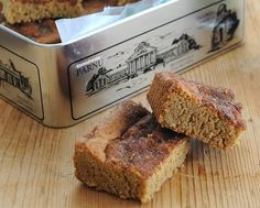 Snickerdoodle Bars, like snickerdoodle cookies except with the firm, chewy texture of blondies. Recipe, tips, WW points at Kitchen Parade.