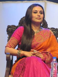 Seen here is Rani Mukherji at the Kolkata International Film Festival. Rani was felicitated by the West Bengal government at the closing ceremony of . Rani Mukherjee Wedding, Western Outfits, Indian Outfits, Rani Mukerji, Celebrity Jewelry, Indian Wear, Indian Style, International Film Festival, Indian Fashion