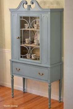 China Cabinet Makeover with RECLAIM paint_1145: It's more expensive than most furniture paints at $49.95 for a quart, but for a piece like this, I used about half of the quart. So you can easily get 2-3 large pieces painted from one quart.