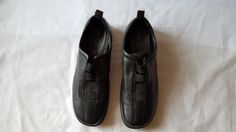 4434d80ad56 Women s ECCO Black Leather Loafers - Vegetable Tanned - Size US 8.5  EUR 39.  Block Heel ...