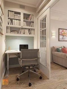 Estudios y despachos de estilo clásico de студия павла полынова clásico Decor, Corner Desk, Home, Apartment, House Design, Furniture, Small Flat, Interior Inspo, Room