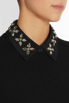 DKNY Embellished silk-blend twill collar NET-A-PORTER.COM