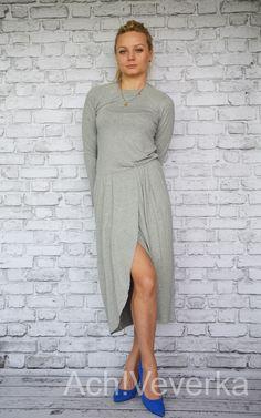 Sukienka dresowa TULIPAN szara. AchVeverka.pl #sukienka #dresowa #szara #tulipan #by #taffi #achveverka
