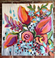 New artwork by Laura Dro 24x24 acrylic on canvas