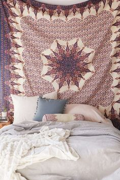 Indian Decor Mandala Tapestry Wall Hanging Hippie Throw Bohemian Queen Bedspread #Unbranded #ArtDecoStyle