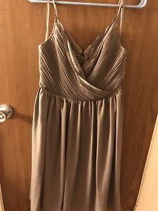 Grey Banana Republic Bridesmaid / Wedding Guest Midi-Dress  | eBay