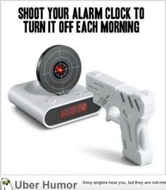 Instead of ignoring the button. Shoot that annoying thing away!