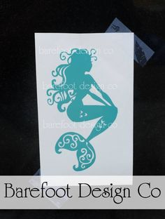 5 inch Mermaid Decal, perfect for cars, windows, and laptops!