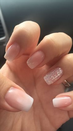 nails french tip glitter ~ nails french tip . nails french tip color . nails french tip with design . nails french tip glitter . nails french tip ombre . nails french tip acrylic . nails french tip coffin . nails french tip short Nail Design Glitter, Bling Nail Art, Bling Nails, Bling Bling, Nude Nails With Glitter, Gold Nail, Blush Pink Nails, Pink Glitter, Pink Chrome Nails