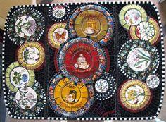 Mosaic Tray, Mosaic Backsplash, Mosaic Tables, Mosaic Wall, Will O The Wisp, Mosaic Furniture, Cake Dome, Alice, Mosaics