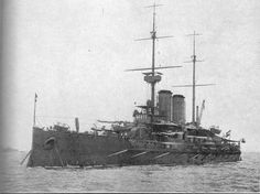 Austro - Hungarian 12 in pre-dreadnought Radetzky representing her nation at the British Coronation review of the Fleet held at Spithead, 1911: after a war spent largely as part of a 'fleet in being' to tie down allied resources she was ceded to Italy following an abortive attempt to surrender to US ships on 10 November 1918.  She was broken up in 1922.