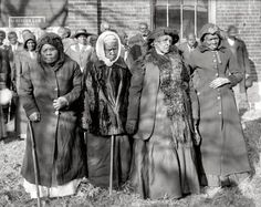 "Washington, D.C., 1916. ""Convention of former slaves. Annie Parram, age 104; Anna Angales, age 105; Elizabeth Berkeley, 125; Sadie Thompson, 110."" National Photo Company Collection"