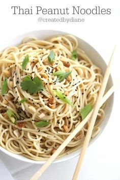 If you like easy recipes, this is for YOU! These Thai Peanut Noodles can be made in minutes and is so flavorful. I just love meals that are versatile, and this is Fun Easy Recipes, Asian Recipes, Easy Meals, Asian Foods, Amazing Recipes, Yummy Recipes, Healthy Recipes, I Love Food, A Food