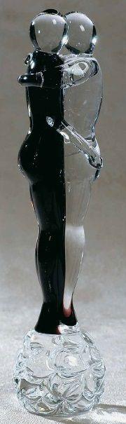 Formia Murano Amanti bicolour lover sculpture