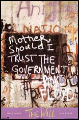 Pink Floyd Mother Should I Trust The Government Poster  Classic rock music psychedelic concert poster ☮ ☮ Hippie Style ☮ ☮