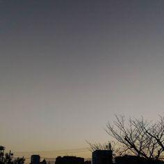 おはようございますいい天気寒いです #sky #cloud #空 #雲 #イマソラ #goodmorning #おはよう