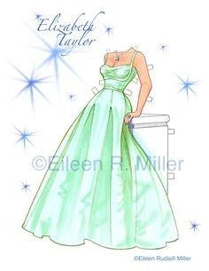 Elizabeth Taylor Tribute Paper Doll by PaperDollsbyERMiller