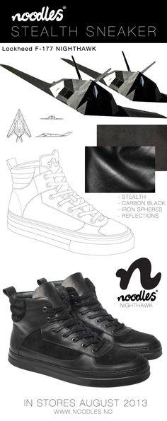 Noodles Nighthawk - The stealth sneaker Carbon Black, Noodles, All Black Sneakers, Men's Shoes, Kicks, Footwear, Shape, Color, Macaroni