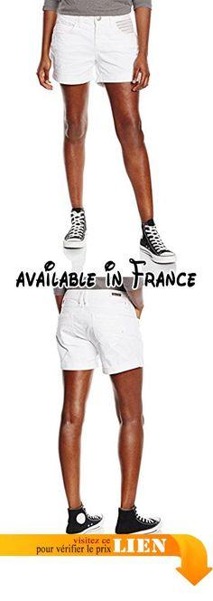 B018FVSS0O : FREEMAN T.PORTER Bethany Finchain - Short Femme Blanc (bright white F022) - M (Taille fabricant: 32). #Apparel #SHORTS
