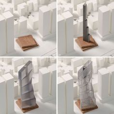 Image 9 of 14 from gallery of OMA / Iyad Alsaka and Reinier De Graaf Uncover Conceptual Design for their First Project in Kuwait. Photograph by OMA Residential Architecture, Architecture Design, Classical Architecture, Futuristic Architecture, Casa Patio, Tower Block, Tower Design, Arch Model, Unusual Homes