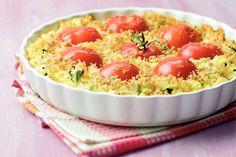 Kijk wat een lekker recept ik heb gevonden op Allerhande! Ovenschotel van rijst en tomaten