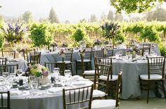 Flowers, Reception, Purple, Chiavari, Vineyard