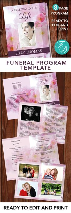 Free Microsoft Office Funeral Service or Obituary Templates - 35 printable obituary