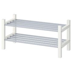 IKEA - TJUSIG, Shoe rack, white, If you need more storage space for your shoes, simply stack one sho Shoe Organizer, Diy Storage, Storage Spaces, Ikea, Storage, Rack Design, Ikea Shoe Rack, White Shoe Rack, Diy Shoe Rack