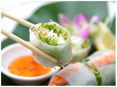 Cucumber & Avocado Summer Rolls - these are amazing! Especially with some Thai peanut sauce!