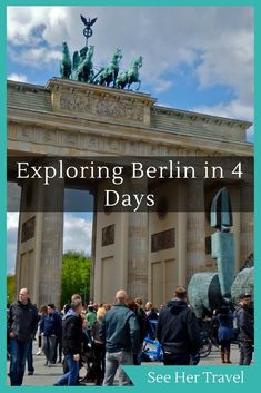 4 Days in Berlin: What do to, what to see, where to go in Berlin Germany. Bike tour of the city, visit a concentration camp memorial, and eat in Berlin, the coolest city around!