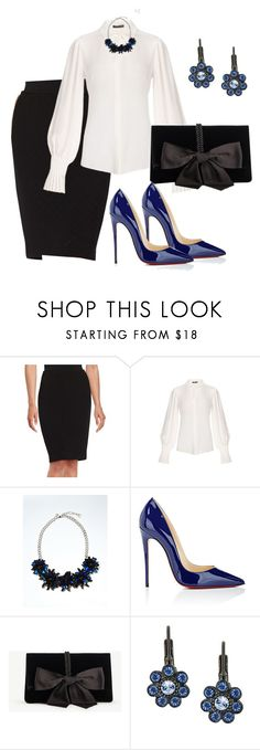 """""""Untitled #3490"""" by janicemckay ❤ liked on Polyvore featuring Calvin Klein, Alexander McQueen, Banana Republic, Christian Louboutin, Ann Taylor and 2028"""