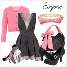 Eeyore, created by elliekayba on Polyvore