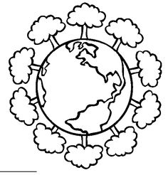 images green earth coloring pages