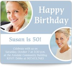Magnetic Birthday Party Invitations - Happy Birthday to You!
