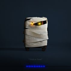 THIS MUMMY IS  THE TAF LUGGAGE OF MONCABAS FOR HALLOWEEN CONCEPT ART.