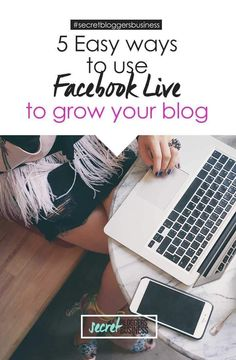 Want to know how to get started on Facebook Live (plus 5 easy ways you can use it right now to grow your blog)? Then click here now - www.secretbloggersbusiness.com/how-to-use-facebook-live-grow-blog